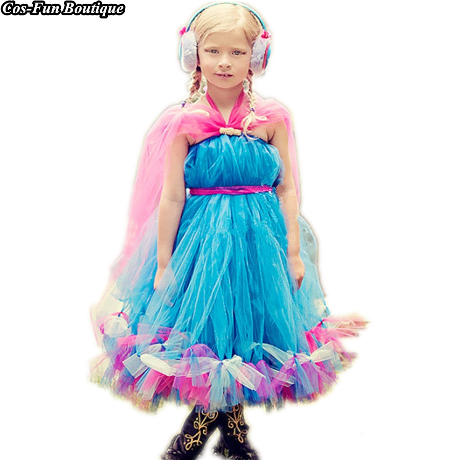 PRINCESS TUTU Anna Dress Cosplay Halloween Costume For Kids Girls Birthday Party Dress Up Bow Cape Girl Dress Kids Clothes K025