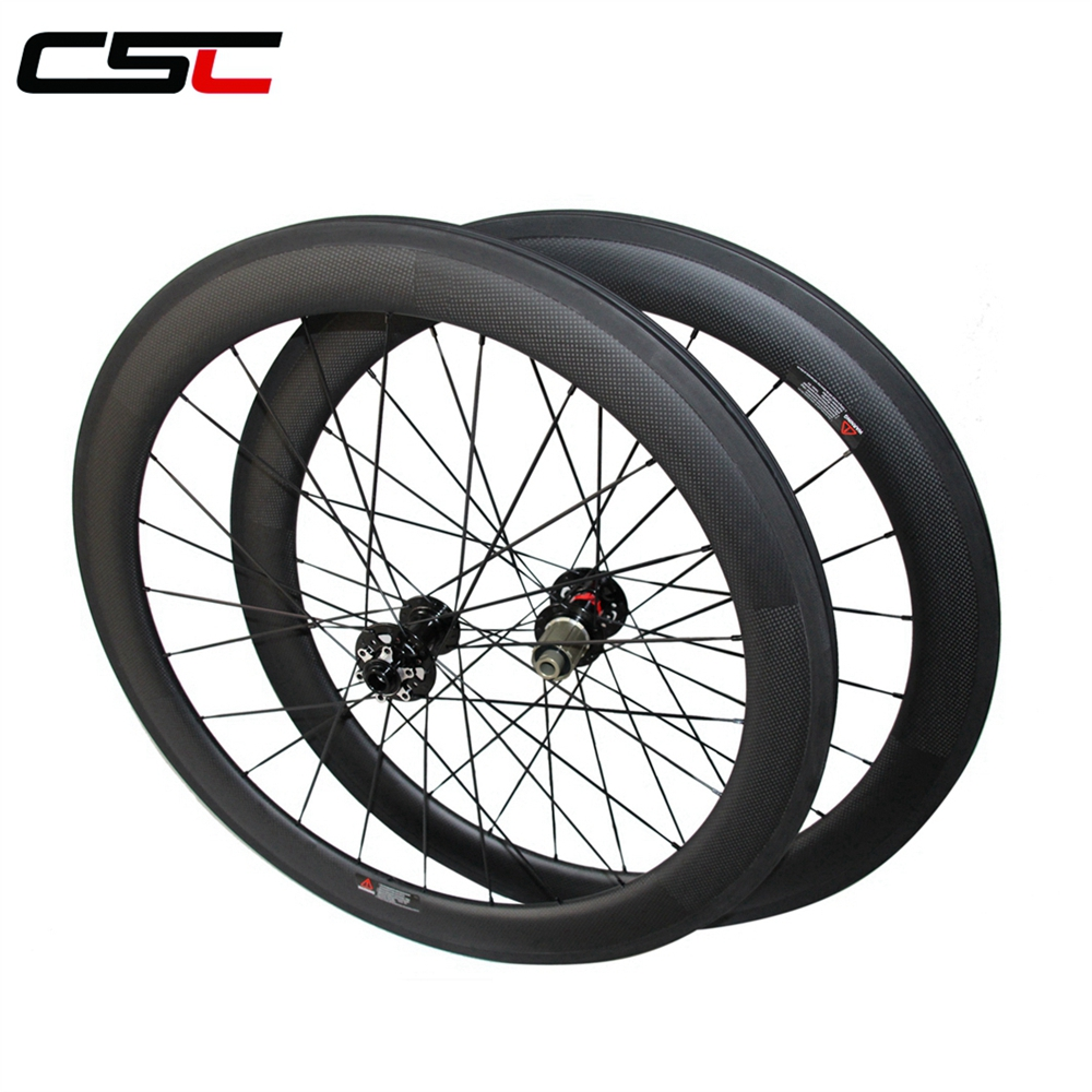 CSC 25mm width carbon 60mm clincher Cyclocross Bike wheels with Novatec D791SB D792SB Disc brake hub