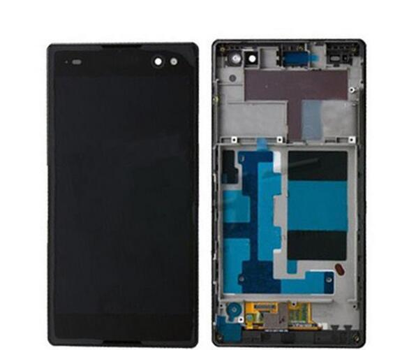 Lcd display screen+touch glass digitizer +Frame Assembly for Sony Xperia c3 s55t d2502 d2533 free shipping