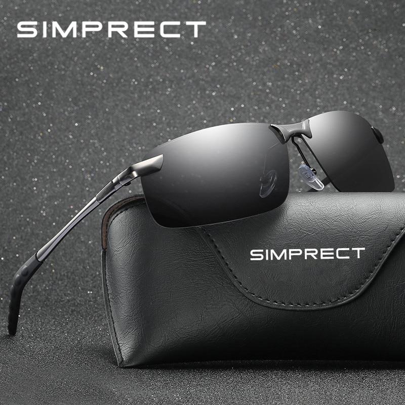 SIMPRECT lunettes De Soleil polarisées hommes 2019 rétro lunettes De Soleil miroir Anti-éblouissement pilote lunettes De Soleil pour hommes Lunette De Soleil Homme