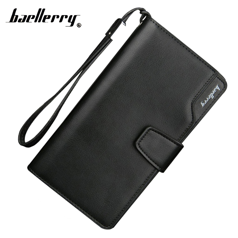 Baellerry Long Phone Handy Men Wallet Male Clutch Bag Purse Cuzdan For Money Card Holder Walet Portomonee Vallet Klachi Wristlet