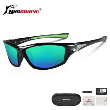 QUESHARK Green Ultralight Fishing Sunglasses Uv400 Polarized Fisherman Goggles D