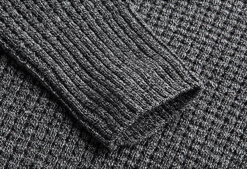 KUEGOU Herbst Herren Pullover 100% Baumwolle Grau Farbe Gestrickt - Herrenbekleidung - Foto 5