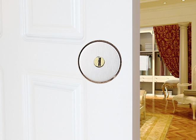 Premintehdw Invisible Flushed Wooden Door Lock