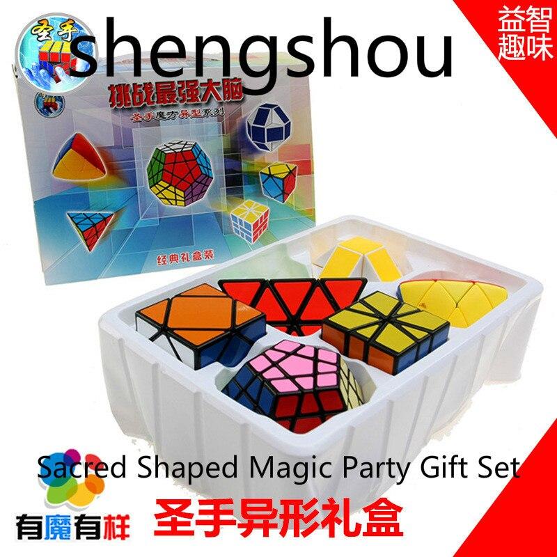 Shengchouen forme de boîte-cadeau pyramide magique vitesse pyramide Cubo Magico professionnel Puzzle éducation jouets pour enfants en plastique