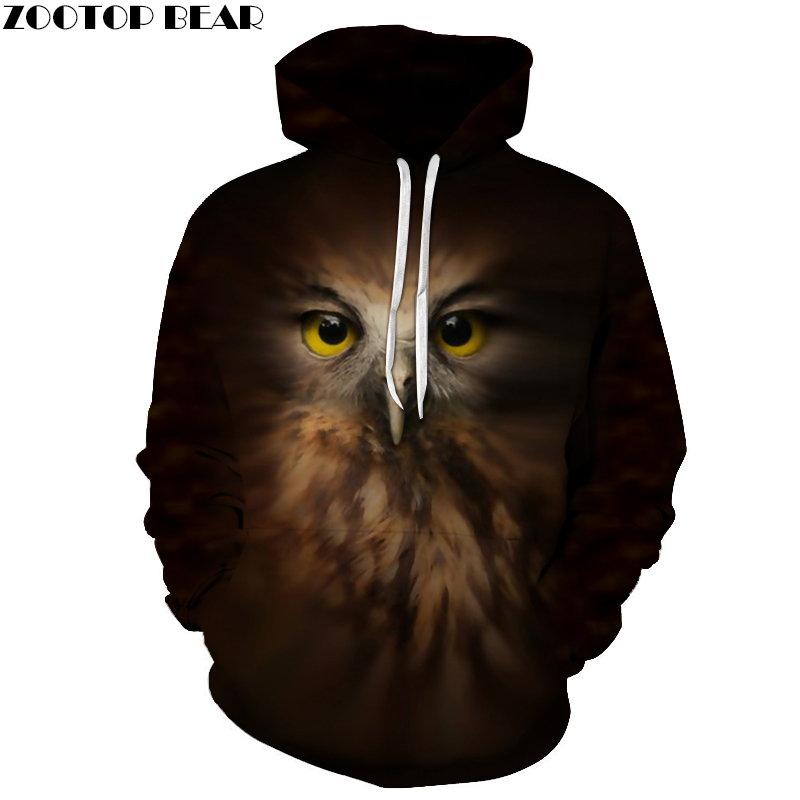 3D Printed Eagle Hoodies Men Women Sweatshirts Hooded Pullover Brand Street Style Tracksuits Boy Coat Fashion Outwear New Hoodie