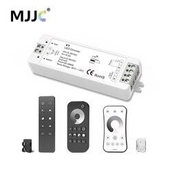 MJJC светодиодный диммер 12 В 5 В 24 В 36 В 8A ШИМ Беспроводной RF светодиодный диммер на OFF с 2,4 г пульт дистанционного управления для одного Цвет Све...
