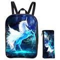 Special Offer Suit Oxford 12-Inch Prints Mythical Animals Horse Kids School Bags Mini Children Small Backpacks for Babys Bags