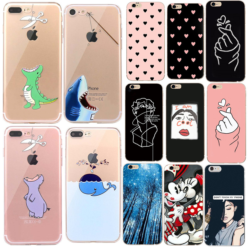 Luxury Silicon Soft <font><b>Case</b></font> For <font><b>iphone</b></font> 7 8 Plus <font><b>X</b></font> <font><b>XS</b></font> Cover Funda Coque For <font><b>iphone</b></font> 6 6s 5 5s SE <font><b>Cases</b></font> Capinha Para image