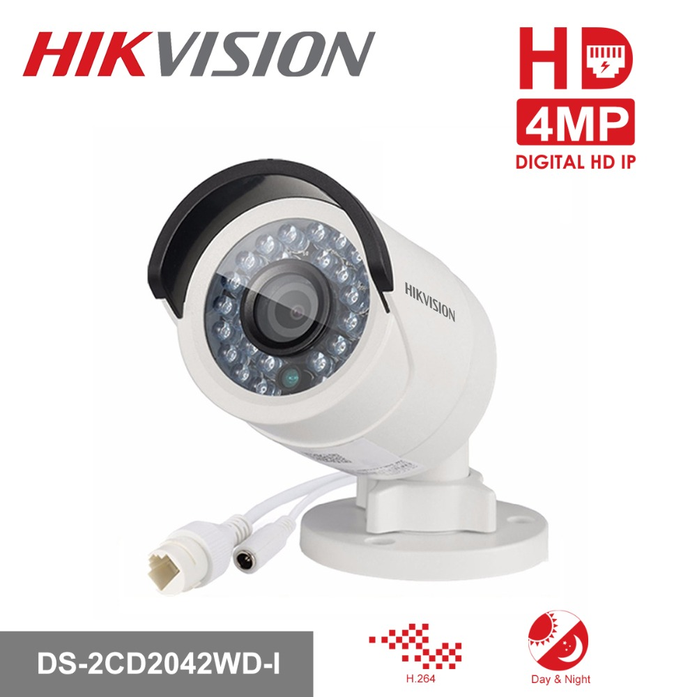 HIKVISION CCTV IP Camera DS-2CD2042WD-I 4MP Bullet Security IP Camera with POE Network camera Security Cameras Surveillance free shipping 1pcs cm50tf 24h power module the original new offers welcome to order yf0617 relay