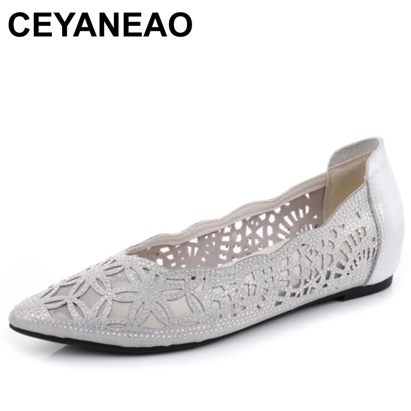 CEYANEAO Women Flats Shoes Pointed Toe G