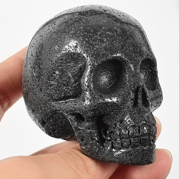 Stunning Volcanic Stone Skull Figurine