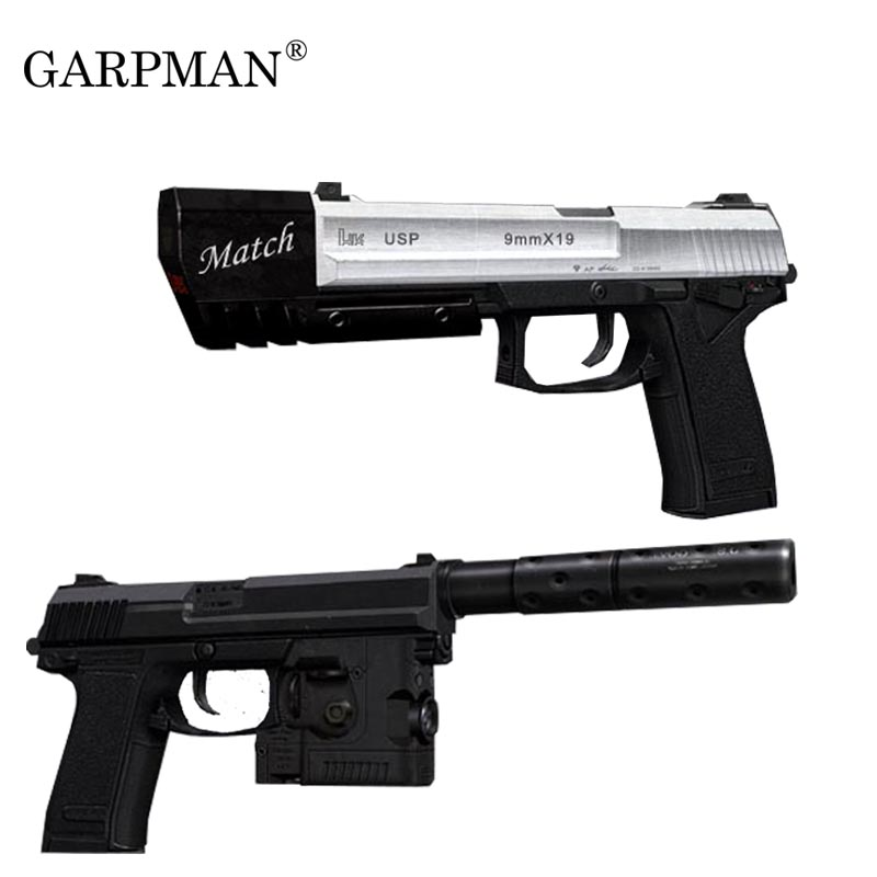 1:1 Hitman USP Pistol Paper Model Gun Weapons Russian 3D Papermodel Diy Handmade Toy