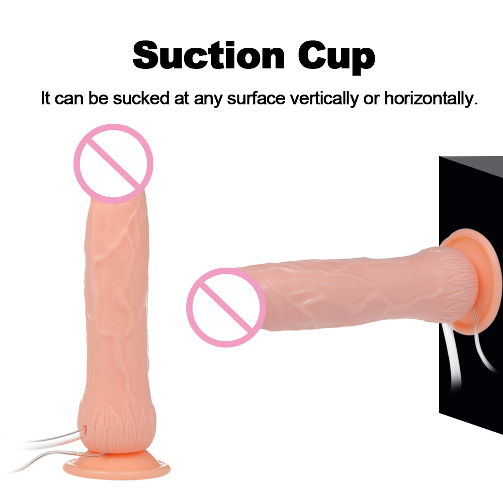 Unisex Vibrator Dildo Ejaculation Squirt Real Penis Vagina/Anal Massage Stimulator With Suction Cup Adult Sex Toys For Women Men