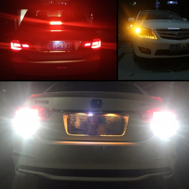 1156 BA15S P21W Led Bulbs 1157 BAY15D P21/5W Led BA15D BAU15S PY21W 800LM Car Turn Signal Lamp Red White Yellow Auto Light 12V