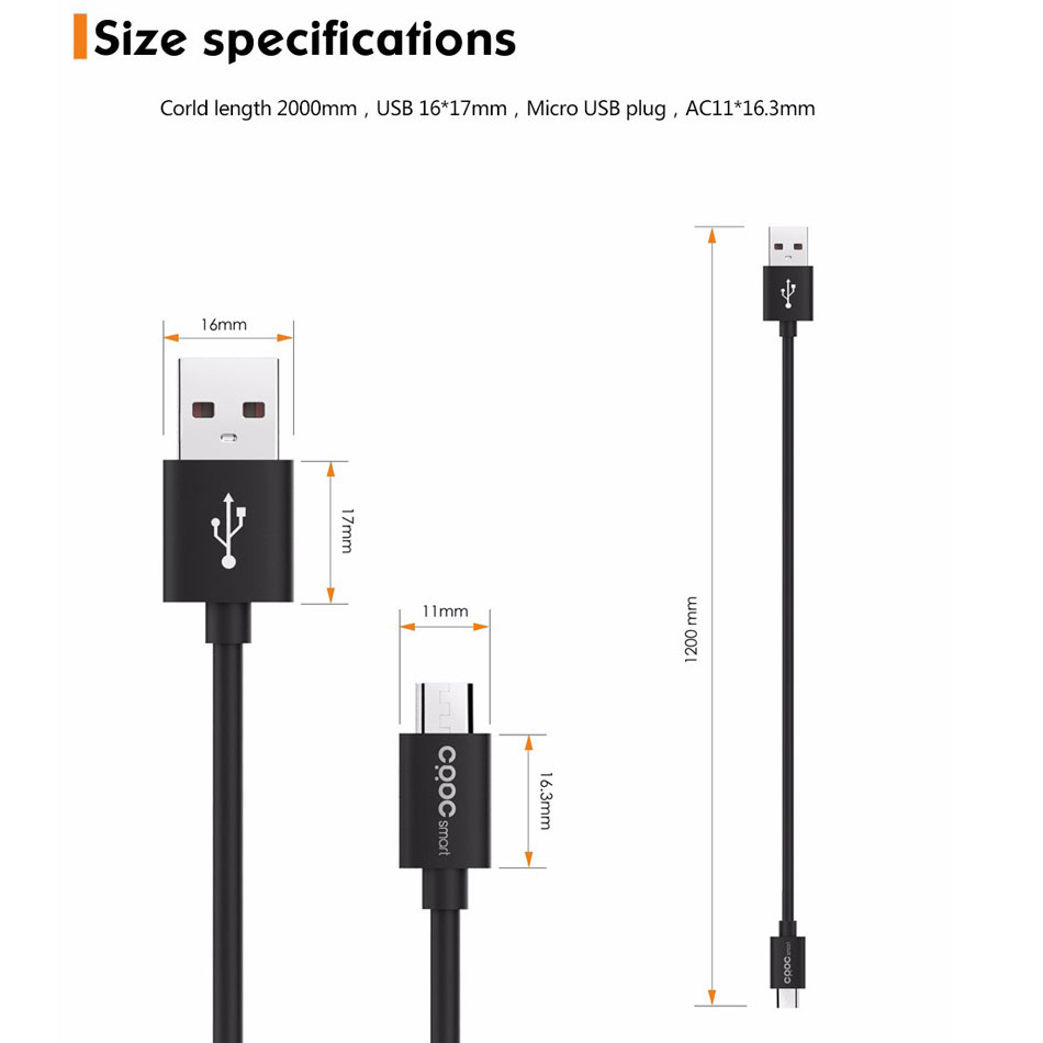 Crdc Micro Usb Cable Fast Data Sync Charging Android Phone Charger Wiring Diagram Quick Charge For Samsung Huawei Xiaomi Sony Htc Lg In Mobile Cables From