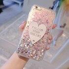 Phone Case For Samsung Galaxy J7 2016 Cases 3D cute Love Glitter Liquid Soft TPU Silicone Case For Samsung J7 2016 J7100 Covers
