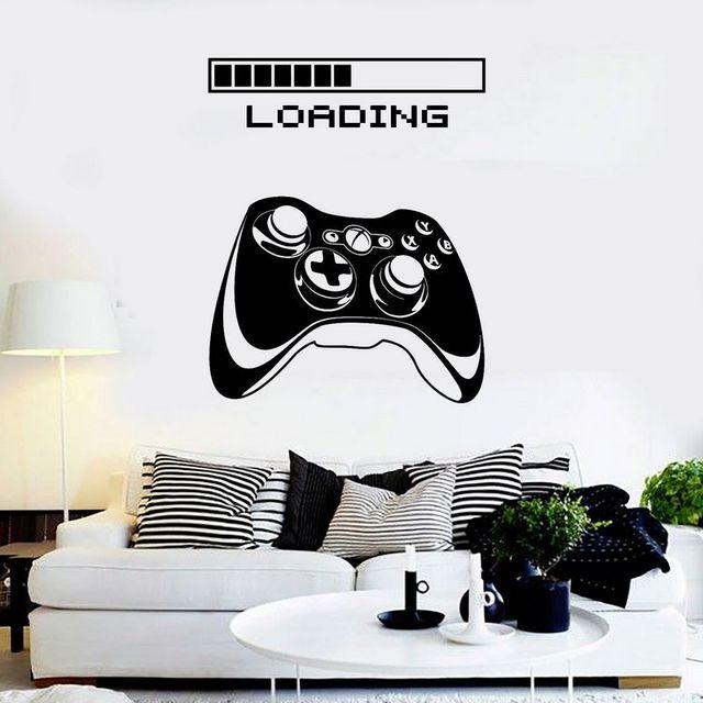 Pokój Gier Uchwyt Naklejki Dla Graczy Gamer Naklejka Plakaty Z Gier Dla Graczy Gamer Naklejki ścienne Winylowe Parede Decor Mural Gry Wideo Naklejki