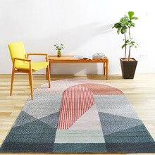 Unique bridge shaped post-modern living room rug, Nordic big size bedside carpet,  blue decoration office carpet ,ground mat
