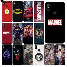 Yinuoda Marvel Avengers Captain America Shield Superhero Phone Case for Redmi 5 plus Note 4 4X Xuiao Mi 3 8 SE 6