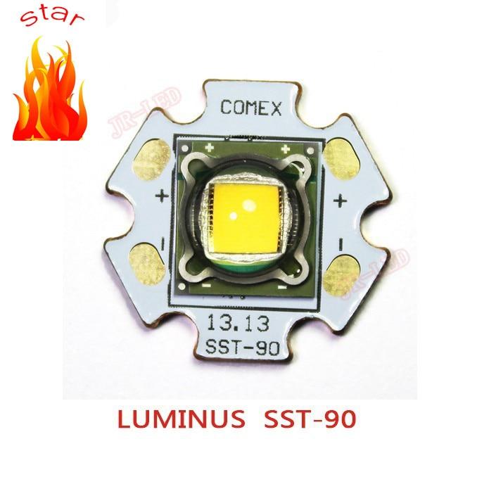 1PCS Luminus SST-90 30W LED Emitter 2250LM WHITE 6500K BLUE 460NM Warm White 3000K Module PCB 20mm Copper For DIY Flashlight Tor