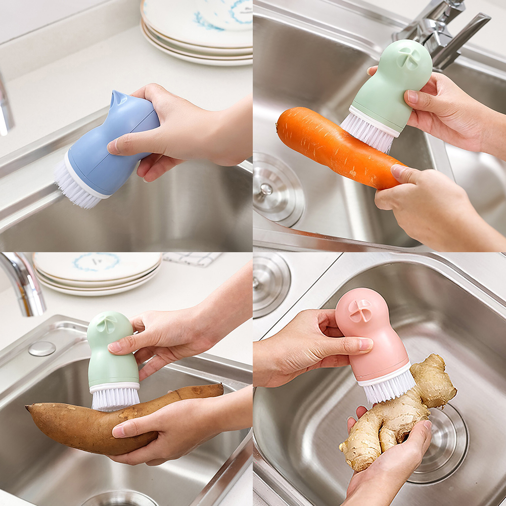 Multifunctional Gourd-Shape Vegetable Fruit Sink Cleaning Brush Kitchen Tool