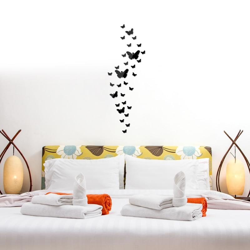 Diy Akrilik ayna duvar sticker kelebek Modern gerçek promosyon ev - Ev Dekoru - Fotoğraf 4