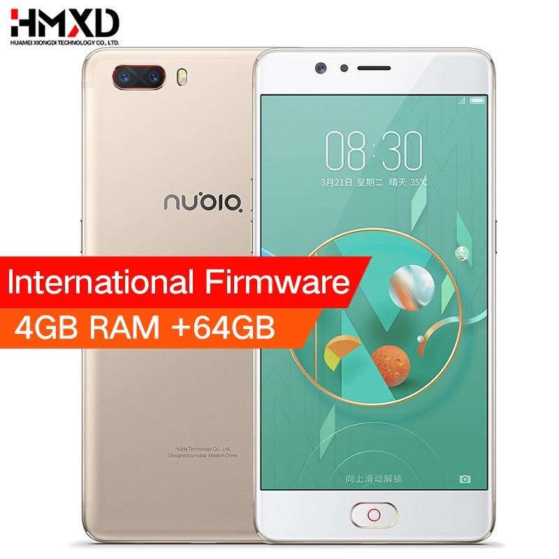 Original ZTE Nubia M2 4G LTE Snapdragon 625 Cell Phone 5.5 1080P 4G RAM 64GB ROM 16.0MP Dual Card 3630mAh Battery Mobile Phone