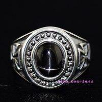 925 стерлингов серебристый, черный Star камнем крест мужской модели импортируются серебряное кольцо