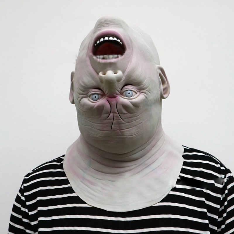 Новая маска для взрослых на Хэллоуин маска зомби латексная кровавая страшная инопланетянин дьявол полный костюм маска для лица вечерние Косплей Prop DA