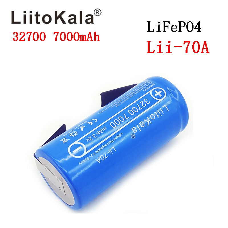 Image 5 - 2019 LiitoKala 3.2V 32700 7000mAh Lii 70A LiFePO4 Battery 35A Continuous Discharge Maximum 55A High power battery+Nickel sheets-in Rechargeable Batteries from Consumer Electronics