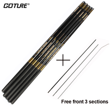 Goture Telescopic Carbon Fiber Fishing Rod 3.6M 4.5M 5.4M 6.3M 7.2M Carp Fishing Pole Stream Hand Feeder Rod+3 Top Sections