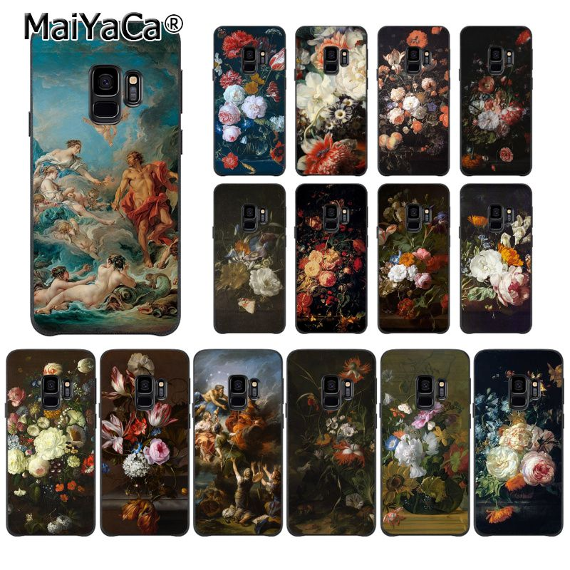 MaiYaCa Classic painting flower Butterfly In Vase ...