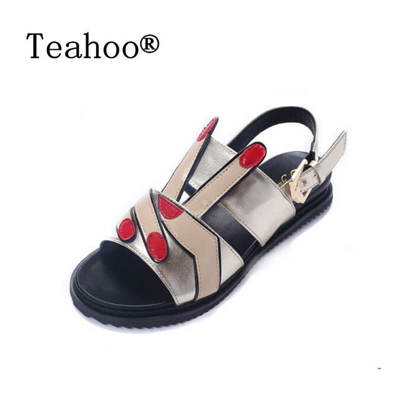New 2016 Summer Women Shoes Flat Platform Sandals Gladiator Sandals Thick Bottom Casual Shoes Woman Wedges Sandalias Femininas wedges gladiator sandals 2017 new summer platform slippers casual bling glitters shoes woman slip on creepers
