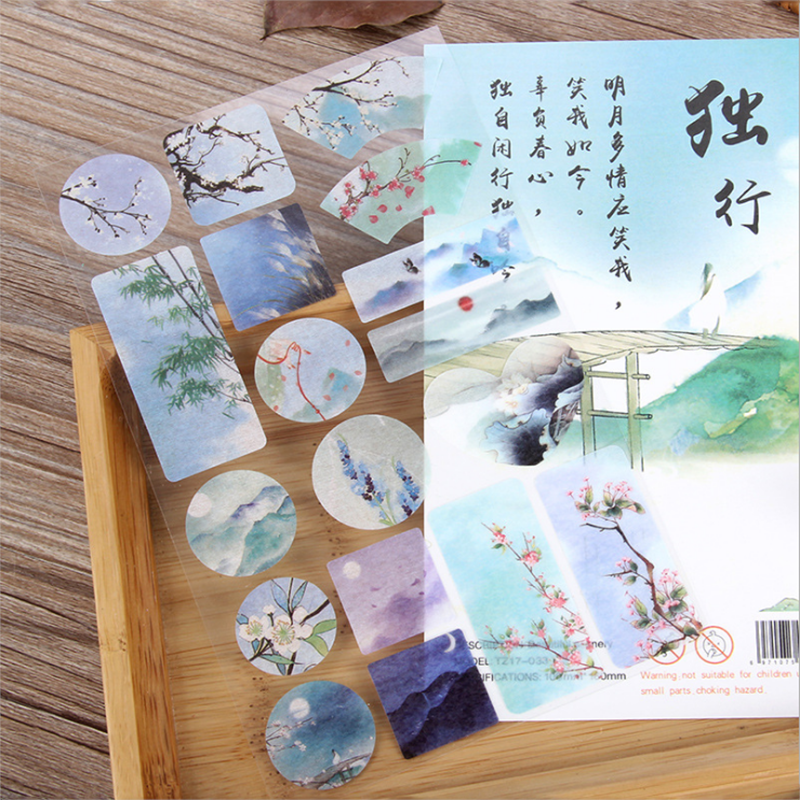 1pc Stickers Travel Emoji Stickers Decorative Washi Stickers Journal Scrapbooking Stick Label Diary Stationery Album Stickers