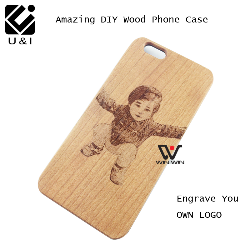 U&I Personalizado Custom DIY Foto for iPhone 5 5S 6 6S 6PLUS 7 madeira grabador laser legno LOGO Fundas Coque celular Factory