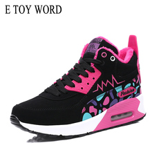 E TOY WORD 2019 Autumn Winter ankle Boots Shoes Womens Snow Round Cushion Sports booties warm plus velvet Casual