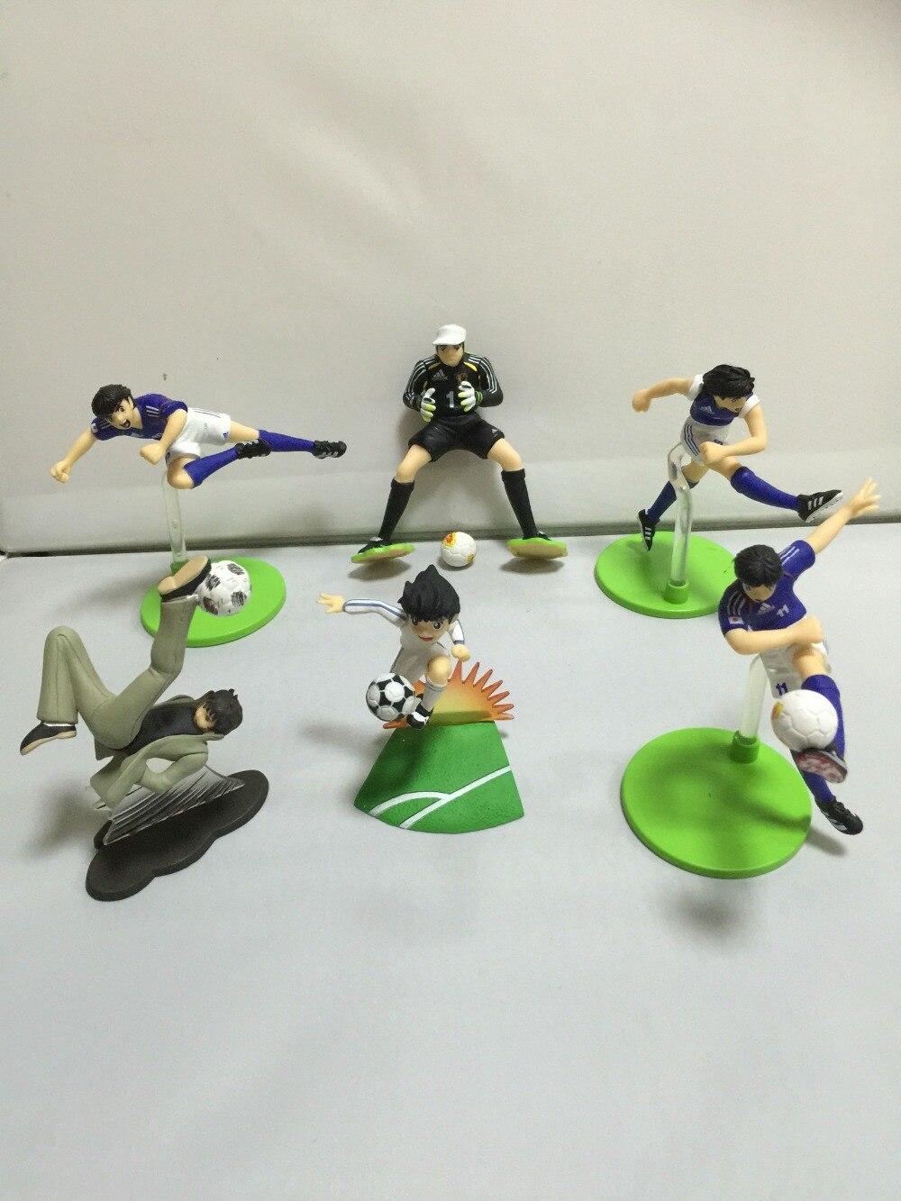 pvc figure japan football boy, 6pcs/set free shipping 6pcs cute garen xinzhao jarvaniv ezreal leesin sona pvc action figure style keyring key chains 6pcs per set
