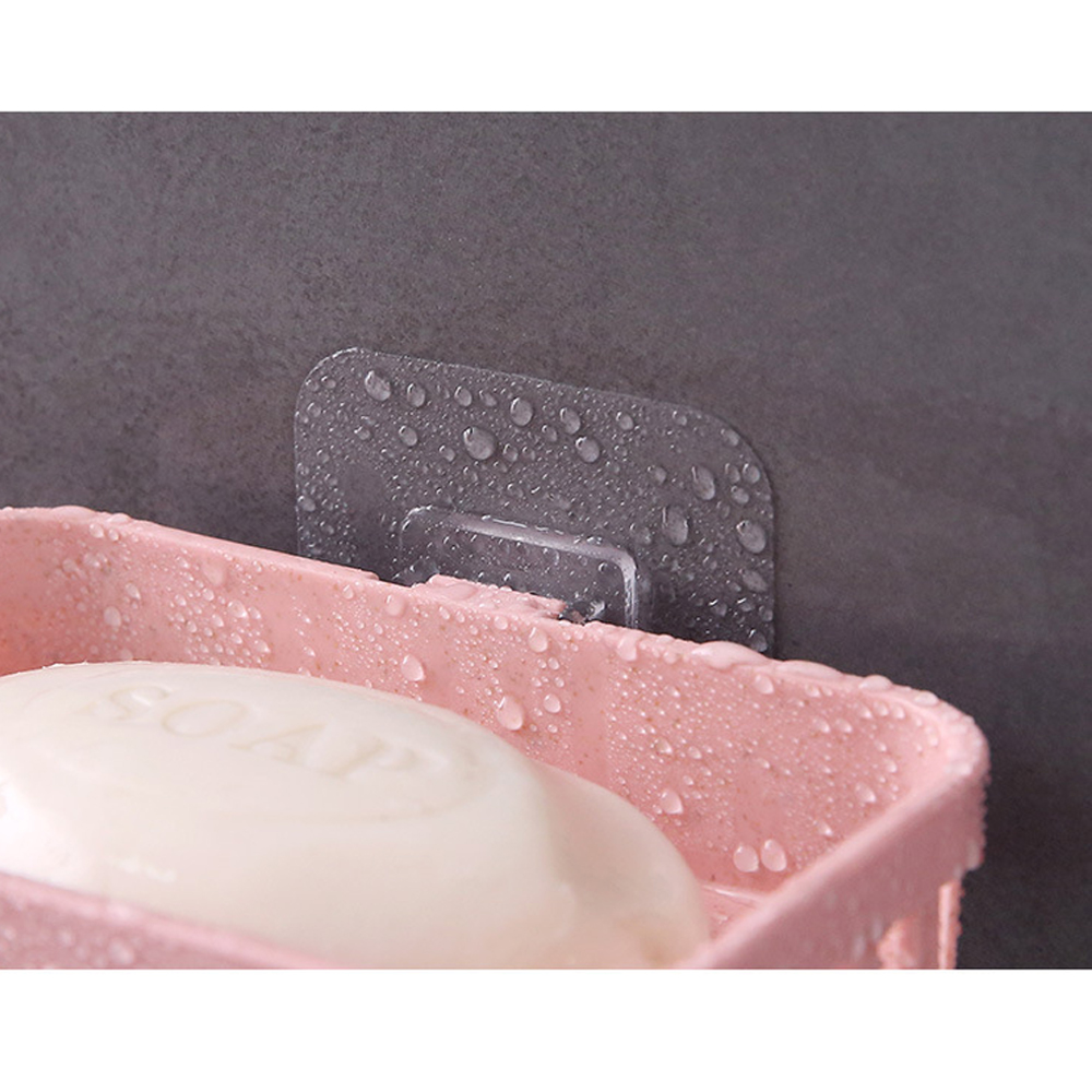 Image 5 - 1pcs Home Travel Soap Dish Box Case Holder Hygienic Easy To Carry Soap Box Sucker Holder Bathroom Soapbox Soap Draining Holders-in Portable Soap Dishes from Home & Garden