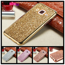 Penuh Bling Case untuk Samsung Galaxy J1 J3 J5 J7 2016 2017 J2 Perdana Grand Inti Logam A30 A50 A70 a3 A5 A8 Plus 2018 Cover Funda(China)