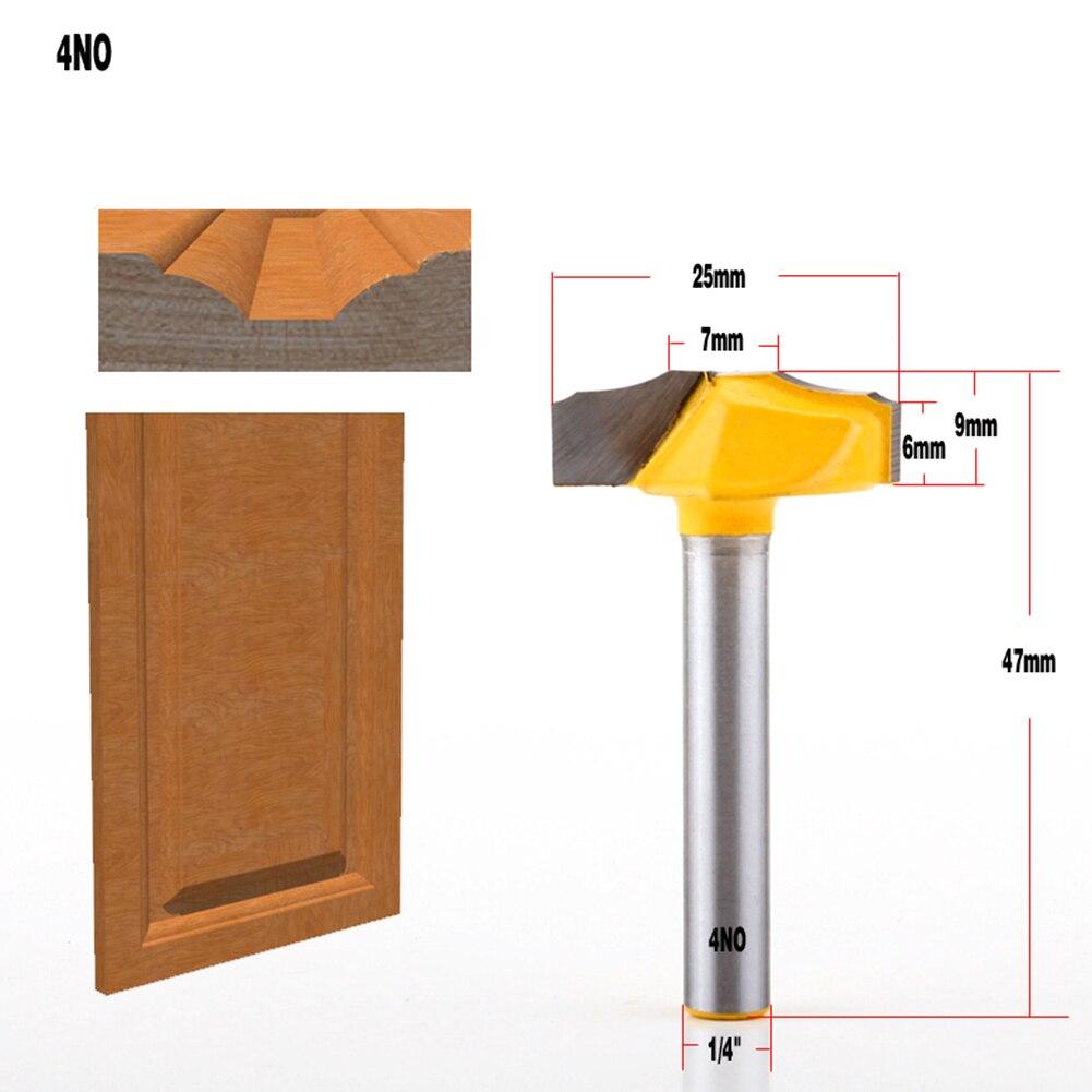 6Pcs 1/4 inch door plank cutter engraving machine CNC cutter woodworking router bit for wood carbide Qingping bit