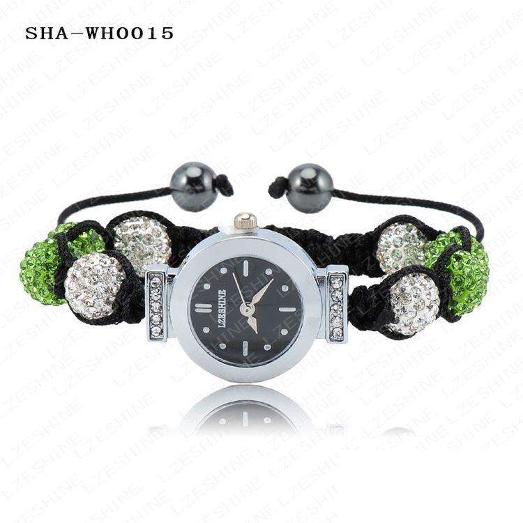 оптовая продажа новый шамбалы браслеты и браслеты часы с АБ глины шариков диско 10 цвета опции ша-whsmix2