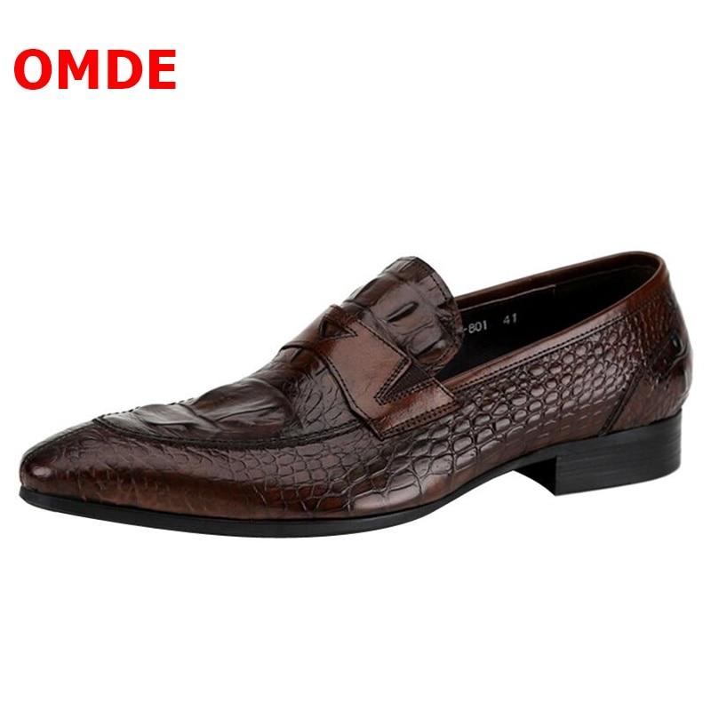 Nova Crocodilo Formal Picture No Homens Couro as Omde Dos As Picture Sapatos Toe Moda Estilo Casamento Deslizamento Padrão De Apontou Luxo Itália dqx7H6zx