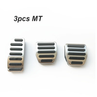 Car Metal Gas Pedal Non Drilling Fuel Brake Pedals Plate Pads Cover For Volvo XC60 V60