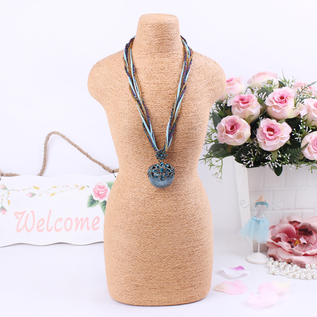 Fashion Necklace Jewelry Mannequin Display Jewelry Chain Pendants Stand Decorate Neck Shelf Holder Frame For Lady Women Girl