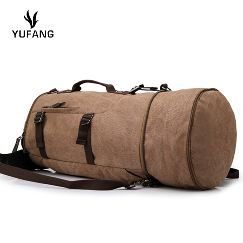 Yufang Men's Travel Bags Large Capacity Canvas Backpack Fashion European And American Style Men's Travel Bag