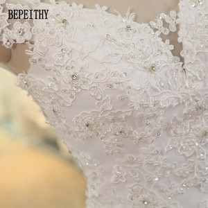 Image 5 - BEPEITHY Foto Reale di Nuovo Arrivo Al Largo Della Spalla Vestido De Novia Sirena Abiti Da Sposa 2019 Pizzo Perline Abito Da Sposa Casamento
