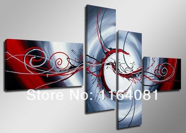 100 Abstraits Faits A La Main Rouge Passion Abstrait Humeur Haute Q