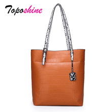 Toposhine 2019 luxury womens Handbags Designer High Quality Crocodile Leather Ladies Handbag Fashion Women Bags