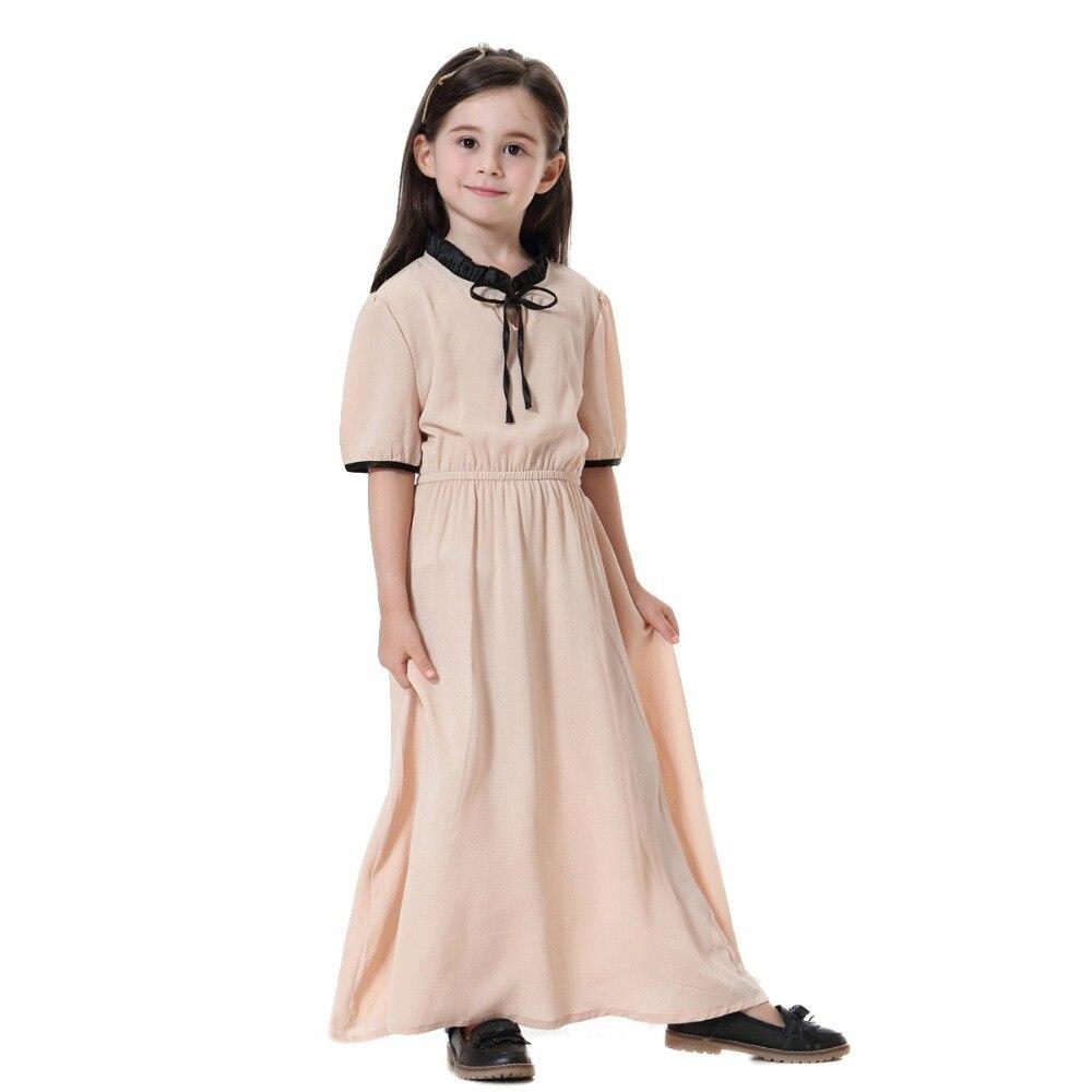 568fa0f472f80 US $16.59  Fashion Child Muslim Girl dress black rose green abaya islamic  Southeast Asia Children baya dresses Traditional Kids clothing -in Dresses  ...